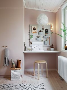 Is this not a cute perfect study nook? Found this gorgeous space over at ❤️ in the home of ❤️ Kids Bedroom, Bedroom Decor, Room Kids, Br House, Cheap Home Decor, Home Decor Accessories, Girl Room, Home Remodeling, Afro Art