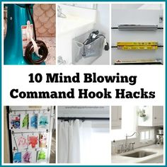 10 Mind Blowing Command Hook Hacks You Need To Know- Command Hooks can be amazing home organization tools if used the right way! For some great inspiration, check out these 10 amazing Command Hook hacks! Home Organization Hacks, Storage Hacks, Wall Storage, Pantry Organization, Organizing Your Home, Organizing Tips, Bathroom Organization, Storage Ideas, Garage Storage