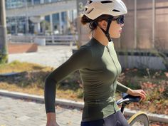 Monton Sports 2019 PRO olive green lightweight long sleeve mtb jersey for summer online sale. Women's long sleeve mtb shirts for hot weather sun protection best value. Women's Cycling Jersey, Cycling Girls, Cycling Helmet, Bicycle Girl, Cyclists, Summer Sun, Second Skin, Wheels, Sporty