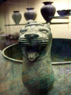 Bronze cat,etruscan artifact Vatican Museum