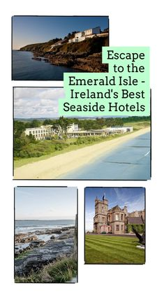 Travelling in Ireland should be on everyone's bucket list. As an island nation it's blessed with miles of spectacular sea views and dramatic coastlines.  Why not make the most of your Irish vacation and book a luxury hotel with amazing sea views to wake up to?  Here are Ireland's best seaside hotels if you want the best ocean views  #travel #travelblogger #irishtravelblogger #irishtravel #luxuryhotels #irishblogger Seaside Getaway, Seaside Hotels, Hotels And Resorts, Best Hotels, Emerald Isle Ireland, Sea Angling, Beyond The Sea, Hidden Beach, Island Nations