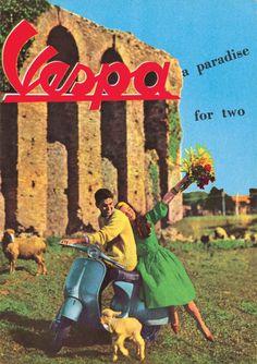 Publicité Vespa pour deux Vintage