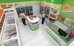 Thiết kế nội thất cửa hàng CP Fresh Mart đẹp hiệu quả - Viet Art