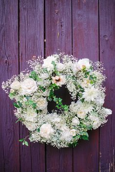 floral wreath // photo by Firm Anchor http://ruffledblog.com/floral-historic-cedarwood-wedding/