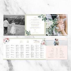 おふたりのお写真を使用したセミオーダーのウェディングブック。専属のグラフィックデザイナーが丁寧にデザインを仕上げます。席次表・プロフィールも入れられるので、ゲストの方に大人気! Happy Design, Web Design, Photo Album Covers, Wedding Invitation Design, Wedding Book, Reception, Bridal, Timeline, Flowers