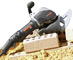 Arbortech Brick and Mortar Saw Saws Through Brick Like Butter - Arbortech brick saw AS170 Brick Saw, True Up, Like Butter, Brick And Mortar, Cool Tools, Concrete Patios, Decks, Inventions, Front Porches