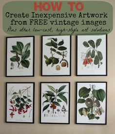 how to create inexpensive artwork with vintage images and other low-cost artwork solutions