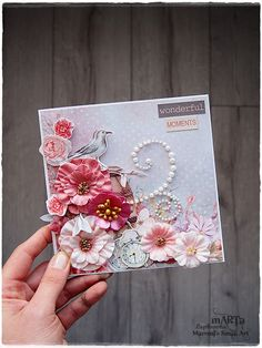 Hi everyone :) I am happy to be back and finally share my recent makes for My Creative Scrapbook kit club . I created 10 scrapbookig ca. Mixed Media Artwork, Mixed Media Canvas, Altered Canvas, Altered Art, Scrapbook Cards, Scrapbooking, Scrapbook Layouts, Paper Crafts, Diy Crafts
