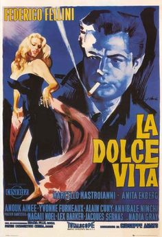 La Dolce Vita Fellini Movie Poster 24x36 – BananaRoad