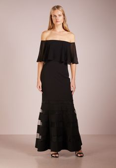 Lauren Ralph Lauren SHAYNIE - Ballkjole - black - Zalando.no Ralph Lauren, Bridesmaid Dresses, Wedding Dresses, Shoulder Dress, Shopping, Black, Fashion, Long Dresses, Scale Model