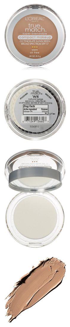 L'Oreal Paris True Match Super-Blendable Compact Makeup, Natural Beige #beauty #lorealparis