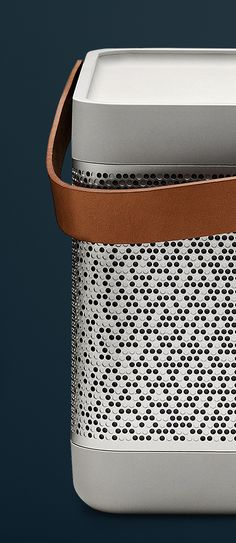 Bang & Olufsen Beolit 12 - A powerful and portable one-point music system that streams from AirPlay. | To get more updates on Portable Bluetooth and Wireless speaker, follow Best Buy Portable Speakers (www.pinterest.com/bestbuyspeakers)