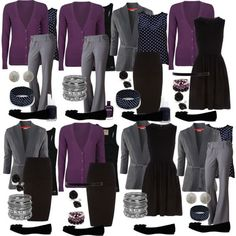 Teacher Outfits on a Teacher's Budget: Mix and Match-- Good Idea to find bas. Teacher Outfits on a Teacher's Budget: Mix and Match-- Good Idea to find basics like this. Work Wardrobe, Capsule Wardrobe, Teacher Wardrobe, Capsule Outfits, Travel Wardrobe, Work Fashion, Fashion Outfits, Womens Fashion, Travel Outfits