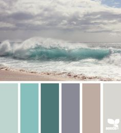 Ocean waves  with color palate