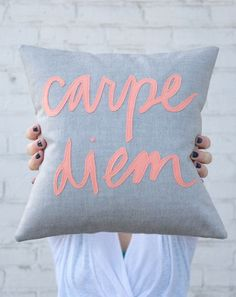 Carpe Diem Pillow ♡ - cute to wake up to every day