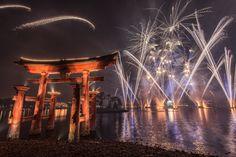 Illuminations over Epcot's Japan.