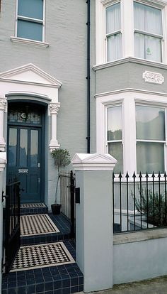 grey victorian london painted house - Google Search