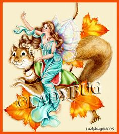"""""""Autumn Faery"""" was published in a magazine back in 2002. © Ladybug Creations."""