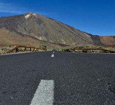 Carretera hacia el Teide