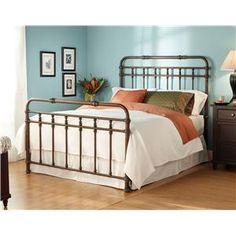 Wesley Allen Iron Beds Twin Hillsboro Iron Headboard and Footboard Bed - Olinde's Furniture - Headboard & Footboard Baton Rouge and Lafayett...