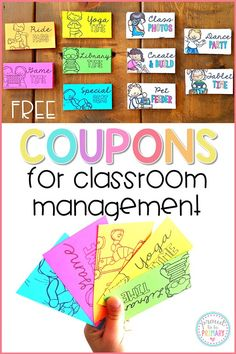 Coupons for Kids: The EFFECTIVE & Free Classroom Management Strategy Change your classroom management system into a positive one with class reward coupons. Save money, stop filling the treasure box, and try the FREE pack of coupons today! Classroom Reward Coupons, Classroom Economy, Classroom Management Strategies, Classroom Organization, Management Tips, Classroom Ideas, Classroom Reward System, Future Classroom, Behaviour Management