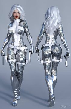 Character Reference Silver Sable by tiangtam on DeviantArt Female Superheroes And Villains, Female Comic Characters, Marvel Comic Character, Fantasy Characters, Dc Comics, Comics Girls, Manga Comics, Marvel Dc, Marvel Women
