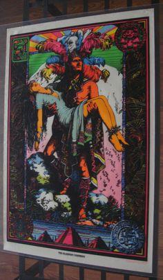 Vintage Flocked Velvet Black Light Poster Sleeping Princess Papermaster Neon 70s   eBay