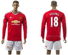 http://www.xjersey.com/201516-manchester-united-18-young-home-long-sleeve-jersey.html 2015-16 MANCHESTER UNITED 18 YOUNG HOME LONG SLEEVE JERSEY Only $35.00 , Free Shipping!