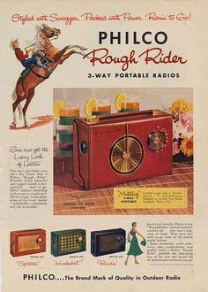 Items similar to Philco Portable Radios Vintage Ad Rough Rider Leather Radio 1956 Vintage Advertisement Print Retro Electronics Wall Art Decor on Etsy Vintage Advertisements, Vintage Ads, Weird Vintage, Vintage Phones, Poster Vintage, Vintage Tools, Vintage Style, Tvs, Televisions