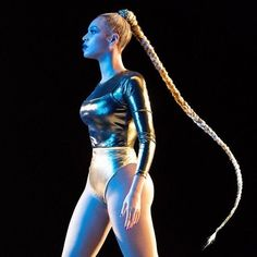 We are obsessing on Beyonce's long braided ponytail that she rocked at Tidal X 1015