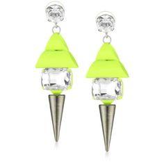 neon spike drop earrings