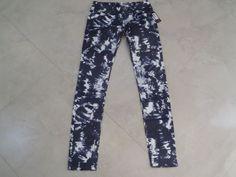 Miss Me Navy White Tie Dye Skinny Crystal Stud Women's jeans Size 26 #MissMe #SlimSkinny