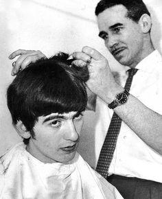 Beatles Hair- trimming George