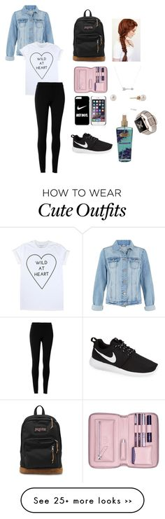"""Back to school outfit(comfy outfit)"" by angelicamagliba on Polyvore featuring Max Studio, NIKE, JanSport, Adina Reyter, Lili Radu and Victoria's Secret"