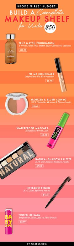 All the makeup you really need for less than $50. Now that's a beauty kit we can get behind!
