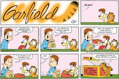 RT People with good sense of are the most ones. Garfield Comics, Garfield Quotes, Garfield Cartoon, Garfield And Odie, Daily Funny, The Funny, Comic Book Characters, Comic Books, Garfield Pictures