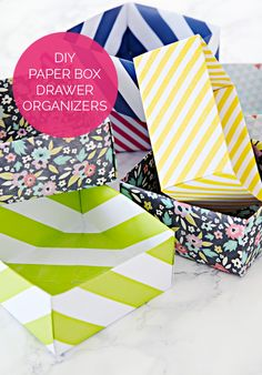 DIY Paper Box Drawer Organizers