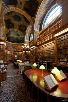 need to go there (shakespearestwin: Paris….Magnificent Architecture, Library in Paris) Beautiful Library, Dream Library, Library Work, Mini Library, Photo Library, Paris France, Ville France, Belle Villa, France Photos