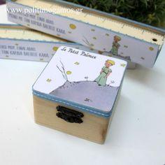 Μπομπονιέρα βάπτισης Μικρός Πρίγκιπας ξύλινο κουτί - ΚΩΔ. Β1951 Decoupage, Bakery, Il Piccolo Principe, Bakery Business, Bakeries