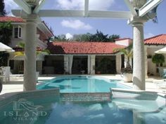 Island Villas - Barbados - Horizons  Sale Price: USD $4,800,000.00     Bedrooms: 5  Bathrooms: 5 (1 Half)  Pool: YES  Located just a stone's throw from the famous Sandy Lane Hotel and its beautiful white sand beach, world class golf and tennis, as well as all west coast amenities such as restaurants, banking and shopping.