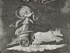 Anonimo , Peruzzi Baldassarre; Giovanni da Udine; Pippi Giulio - sec. XVI - Carro della luna - particolare