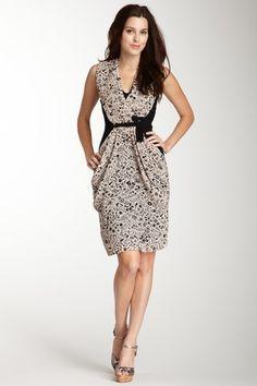 Atticus Print Dress. Love, love, LOVE this draping, so flattering!