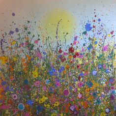 """New Yvonne Coomber piece called 'All my dreams unfold here' is now on the wall in the gallery. It is mixed media and measures 31"""" x 31"""" priced at £1,760. Please contact the gallery for details"""