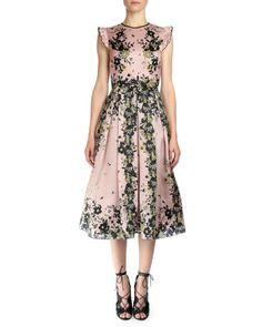 Haleigh Floral-Print Silk Gazar Dress by Erdem at Bergdorf Goodman.