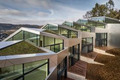 Sleek multi-family housing complex unfolds in Luxembourg - Curbedclockmenumore-arrow : Oh, the geometry!