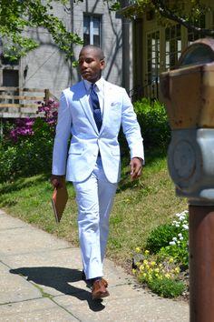 Seersucker suit #weddingideas