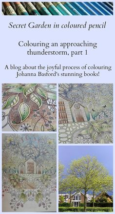 Passion for Pencils: Colouring Secret Garden - Approaching thunderstorm on a summer's afternoon