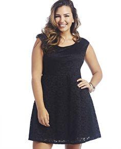 Lace Tank Skater Dress, $32.90, Wet Seal | 27 Fabulous Plus Size Little Black Dresses Under $50