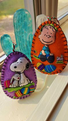 Peanuts Felt Easter Eggs-Snoopy and Linus by DebsArtsyEnchantment