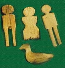 A variety of carved wooden children's toys from the period have been found, including dolls, horses, ships, and other figures. Child sized wooden weapons have also been found.